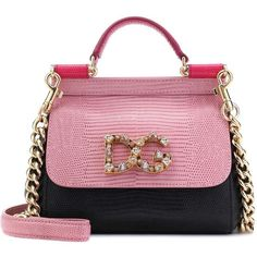 Dolce & Gabbana Sicily Mini Leather Shoulder Bag (15 805 SEK) ❤ liked on Polyvore featuring bags, handbags, shoulder bags, pink, dolce gabbana handbags, pink purse, shoulder bag purse, leather shoulder handbags and mini leather handbags