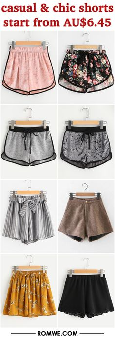 casual & chic shorts from AU$6.45