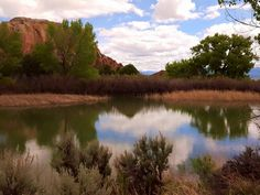 Amazing photographs of Ghost Ranch taken yesterday by Cheryl DeShon from Lee's Summit, MO. View of Chimney Rock and the pond on the way to Box Canyon. Thank you Cheryl for sharing! via Abiquiu, New Mexico FB