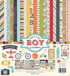 Echo Park - new for 2014 : That's my Boy paper collection.