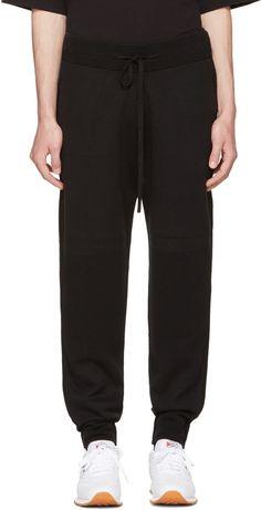 HELMUT LANG Black Ottoman Jogger Pants. #helmutlang #cloth #pants
