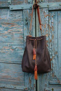 Torba, plecak, worek skórzany  w Navaho na DaWanda.com