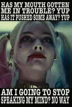 That's ma Harley. Bitch Quotes, Joker Quotes, Sassy Quotes, Badass Quotes, True Quotes, Funny Quotes, Rebel Quotes, Harly Quinn Quotes, Joker And Harley Quinn