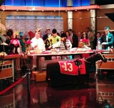 The hosts of Good Day New York trying Chef Robert's Kentucky Derby dishes! #LiveTV