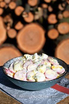 Rzodkiewki z jogurtem – Smaki na talerzu Camembert Cheese, Potato Salad, Potatoes, Ethnic Recipes, Desserts, Food, Tailgate Desserts, Deserts, Potato