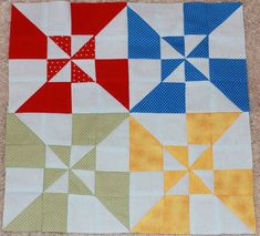 Kimberly with the Fat Quarter Shop present this Double Windmill Block The following video is one of the most detailed tutorials yet! From the beginning, Kimberly shows us exactly how much material we need and at what lengths each piece needs to be cut. You will also notice that at the top of the screen …