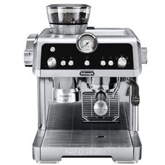 DeLonghi La Specialista is a beautifully designed espresso machine that allows you to handcraft consistently great espresso-based coffee drinks from the comfort of your home. We've incorporated four innovative features to make the process more streamlined and personalized, while preserving the hands-on creativity and satisfaction of brewing authentic espresso and Americano. With no additional heat-up time, and minimal cleanup, La Specialista empowers you to handcraft your espresso the right… Gaggia Espresso Machine, Machine Expresso, Cappuccino Machine, Espresso Machine Reviews, Espresso Maker, Espresso Coffee, Barista, Italian Espresso, Italian Coffee