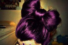 dark purple hair color!