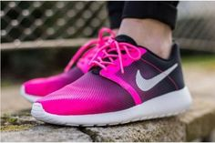Nike Roshe Run Flight Weight Gs Pink Pow Black Womens Shoes Nike Kids Shoes, Nike Free Shoes, Nike Shoes Outlet, Roshe Run Shoes, Nike Roshe Run, Nike Sb, Nike Zoom, Nike Shoe Store, Sports Footwear