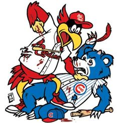Fred Bird V Cubs Graphics, Pictures, & Images for Myspace Layouts St Louis Baseball, St Louis Cardinals Baseball, Chicago Cubs Baseball, Stl Cardinals Logo, Cardinals News, Cardinals Win, Louisville Cardinals, Cubs Games, Better Baseball