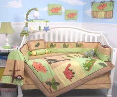 SoHo Dinosaur Story Baby Crib Nursery Bedding Set 13 pcs included Diaper Bag with Changing Pad & Bottle Case ** Special ! ** #Bedding #Dinosaur #DinosaurBedding #DinosaurNurseryBedding #CribBedding #DinosaurBabyBedding #KidsDinosaurBedding