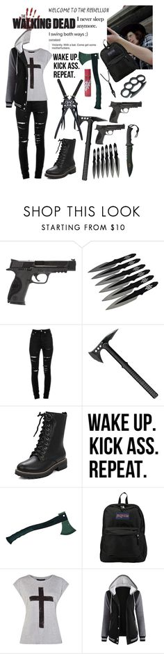 """Shadow ( Grimes ) // The Walking Dead"" by tomboygeek ❤ liked on Polyvore featuring Smith & Wesson, Yves Saint Laurent, WALL and JanSport"