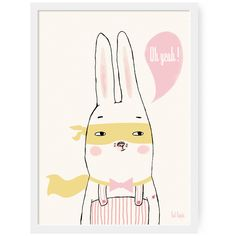 """Tad lapin — Poster A3 """"Oh yeah!"""""""