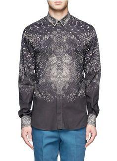 ALEXANDER MCQUEEN - Snakeskin print cotton shirt
