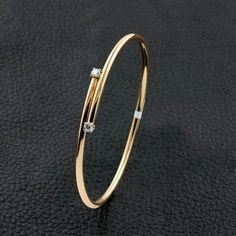 Gold bangles design - Thin Bangle Bracelet with Diamond Accents – Gold bangles design Bracelets Design, Gold Bangles Design, Jewelry Design, Designer Bangles, Bracelet Rolex, Bangle Bracelets, Simple Bracelets, Silver Bracelets, Braclets Gold