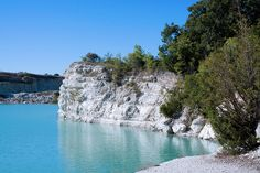 Spring-fed lake at a limestone quarry in McKinney, TX Quarry Lake, Limestone Quarry, Texas Travel, Vacation Spots, Places To Go, Beautiful Places, Around The Worlds, Tours, Explore