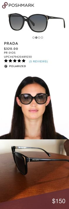 Prada sunglasses Prada sunglasses. worn a few times. The lenses have minor scratches but do not obstruct view. They are polarized. Prada Accessories Sunglasses