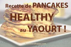 Voici la recette des délicieux pancakes Croq'kilos ! Ils sont fait avec du fromage blanc ou du yaourt, ils sont légers et TELLEMENT bon !!!