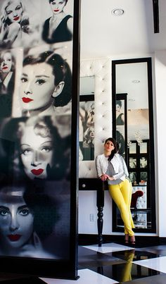 LASH Eyelash Studio designed by Contour Interior Design, LLC A mix of Marilyn & Audrey :) niiice.
