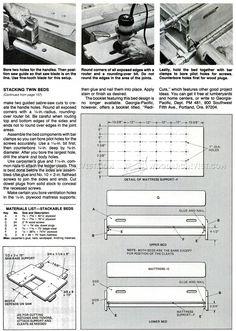 Stackable Beds Plans - Children's Furniture Plans Furniture Plans