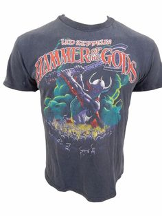 Led Zepplin Vintage 1988 Hammer of the Gods T-Shirt Size L Large  Hanes 6dbfb6c39