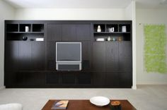 A streamlined approach to shelving is fitting for contemporary and modern spaces.