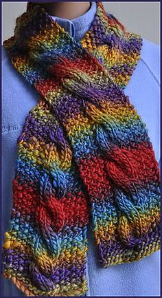 Chunky Mochi Cable Scarf