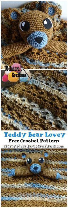 Teddy Bear Lovey (Part 1) – Free Crochet Pattern - Meladora
