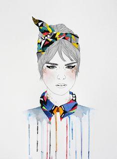 Illustration brodées // Izziyana Suhaimi