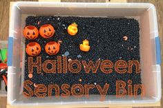 """Do you use sensory bins with your little ones? """"It is an easy way to develop…"""