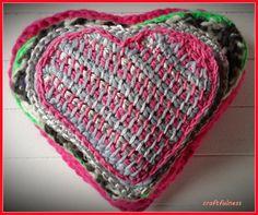 Tunisian crochet heart tutorial by craftfulness
