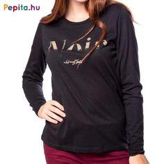Heavy Tools Clementa Női Polo Fekete színben .Női hosszú ujjú póló, fényes nyomással az elején. Anyaga: 50% pamut, 50% modál. Méret: S Polo, Sweatshirts, Long Sleeve, Sleeves, Sweaters, Mens Tops, T Shirt, Products, Fashion