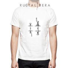 RUOTALIBERA Men t-shirt Modello/Model: Hubs Colore/Colour: bianco/white taglia/size: S,M,L