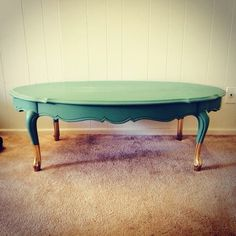Ahhhmazing vintage gold dipped claw foot coffee table!! Such a beauty!