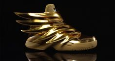 """The Jeremy Scott x adidas Wings 3.0 """"Gold"""" Is Available Now"""