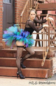Peacock Bustle Tutu - Adult Size - Up to Size 14 - Custom Teen, Ladies, Woman, Adult Tutu - Halloween Costume - Photo Prop. $59.99, via Etsy.