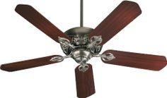 """Quorum 78525-92 Chateaux - 52"""" Ceiling Fan, Antique Silver Finish Quorum Lighting http://www.amazon.com/dp/B001QWU3IA/ref=cm_sw_r_pi_dp_qnhLtb01GN0X2KYT"""
