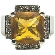 Chatila diamond and citrine ring