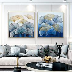 Set of 2 wall art Frame painting abstract floral Original Gold and blue Acrylic Painting on canvas Extra Large flower painting Wall Picture Flower Painting, Wall Art, Painting, Blue Painting, Art Gallery Wall, Art Painting Acrylic, Abstract, Painting Frames, Acrylic Painting Canvas