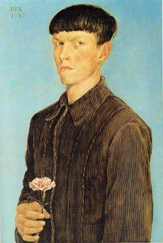 Otto Dix - Autoritratto con garofano, 1912