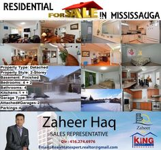 Residential For Sale In Mississauga For Showing Please Call(416) 274-6976 Description Very Beautiful Home At Prime Location Custom Upgrades From Builder By Original Owner 9' Ceiling Grand Foyer & Hallways On 2Levels Crown Molding Led Pot Lights At Main N Bsmnt Air Brush Paintings On All Blinds 4 Large Brs With 1Huge Balcony Storm Door Well Maintained Deep Backyard Big Yard Shed Granite Counters In Kitchen & Washrooms Bfst Counter Wet Bar In Bsmnt Meticulously Maintained By Loving Family…
