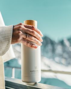 DRINK MORE WATER. The brand new waterdrop™ double stainless Steel Bottle keeps your waterdrops ice cold for up to 24 hours. It impresses with its minimalist design, robust material and its sustainability. Drink More Water, Stainless Steel Bottle, Water Drops, Minimalist Design, Sustainability, Bottles, Ice, Cold, Flasks