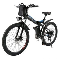 Brand: ANCHEER Smart Phone fast USB Charging Interface design Shimano gear transmission Disc Suspension Fork Speed up to speed b Mountain Bike Frames, Mountain Bicycle, Mountain Biking, Foldable Electric Bike, Folding Electric Bike, Electric Bicycle, Full Suspension Mountain Bike, Electric Mountain Bike