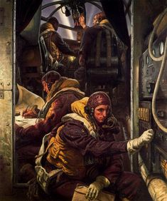 Take Off: Interior of a Bomber Aircraft by Laura Knight