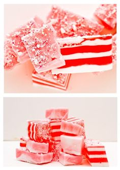Easy candy cane soap