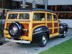 1947 Ford Super Deluxe Woodie Pop Up Truck Campers, New Trucks, Ford Trucks, Beach Wagon, Surf Rods, Sweet Station, Woody Wagon, Used Ford, Antique Trucks