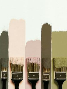 i love this colour palate of karki greens and blush pinks, i think this would be a lovely colour theme for a home