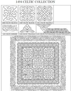 1492 CELTIC COLLECTION quilting diagrams