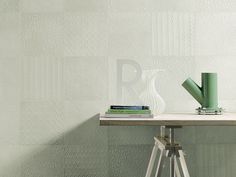 Subtle, yet full of details, creativa tenerife creativa tenerife Fioranese 's Sweet Revolution collection in sea green mixes textures inspired by block print patterns used in mid-century wallpapers. Marble Tiles, Wall Tiles, Interior Walls, Interior Design, Patchwork Tiles, Tile Suppliers, Decorative Tile, Room Paint, Tile Design