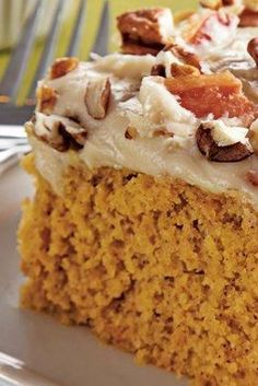 Sweet Potato Sheet Cake with Bacon Cream Cheese Frosting? You had us at 'bacon'.